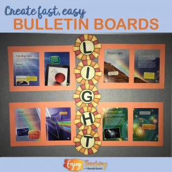 Create fast, easy bulletin boards with trade books.