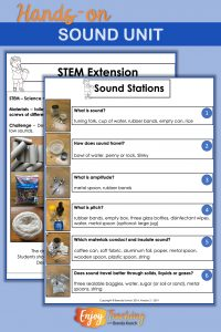 Engage your students with hands-on sound lesson plans. They're perfect for third, fourth, or fifth grade.