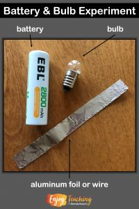 Kick off your fourth grade electricity unit with this battery and bulb experiment. Visit Enjoy-Teaching.com to learn more.