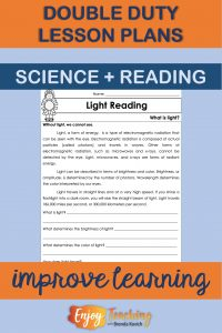 Integrate science and reading to maximize instructional time in your classroom.