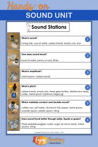 Six sound stations let kids explore energy concepts and make generalizations. They're perfect for third, fourth, or fifth grade.