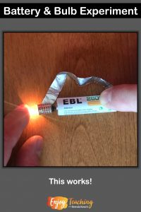 When fourth graders experiment with batteries and bulbs, they learn about circuits. Read more about this electricity activity at Enjoy-Teaching.com.