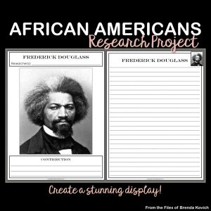 This research project celebrates the lives of famous African Americans. It's differentiated for three levels and looks great as a bulletin board.