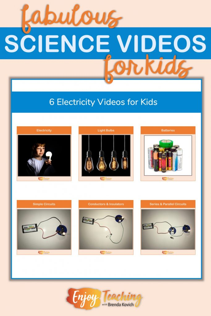 Six electrical energy videos teach fourth grade students about current electricity and circuits.