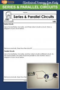 Electricity activities for kids are not complete without a series and parallel circuits lab. Let your fourth grade students build electrical circuits on their own.