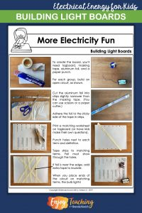 Light boards will provide the perfect culminating activity for your electricity unit. Kids in third grade, fourth grade, and fifth grade love constructing circuits and demonstrating how to use conductors and insulators.