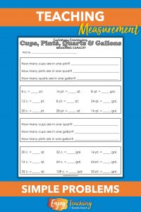 Scaffold kids' understanding of customary units of measurement. Ease in with simple, predictable problems.