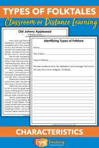 Ask kids to read and identify different types of folklore.