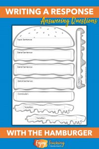 Use this constructed response burger craft to teach kids to write complete responses.