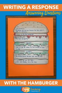 Constructed response is easy with this constructed response hamburger craft.