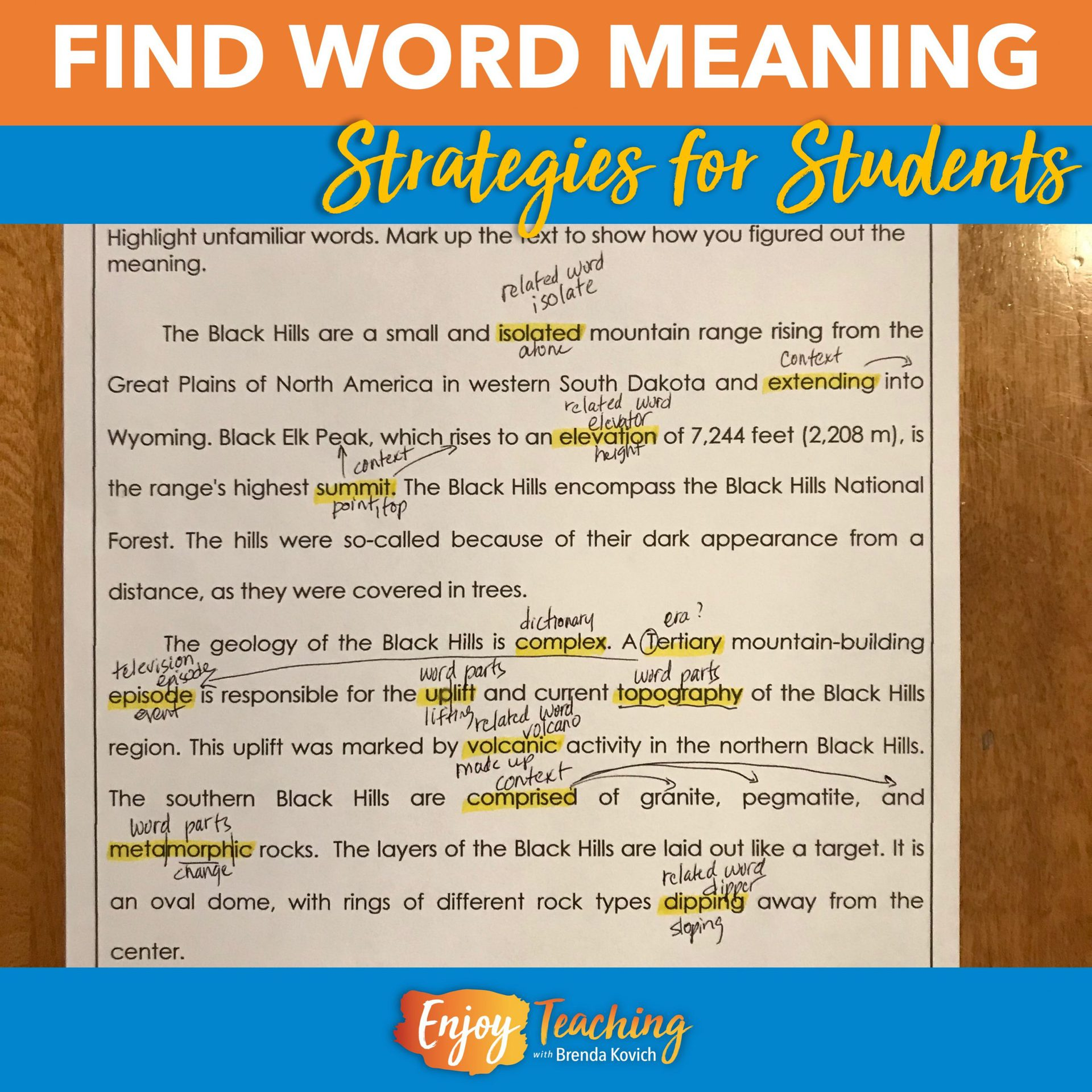 20 Ways to Teach Kids to Find Word Meaning in Context