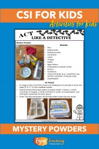 Set up a mystery powders lab for your class and let the fun begin!