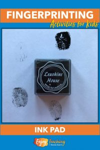 Ink pads work great for creative fingerprinting activities, but it's difficult to get a clear print.