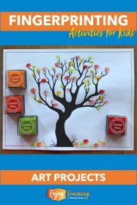 Fingerprinting activities bring out the artist in every child. Try this fun fall tree project.