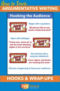 Add hooks to your persuasive writing - and engage your audience.