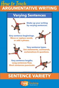 Improve writing by varying sentence beginnings, types, and lengths.
