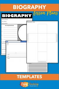 Kids can use a graphic organizer to record information from the biography they read. As an alternative, they can create a mock social media post or a biography cube.