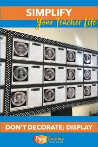 Don't decorate your classroom. Instead, display student work. It's a win-win proposition.