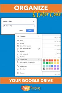 To color code a folder in your Google Drive, right click to change color.