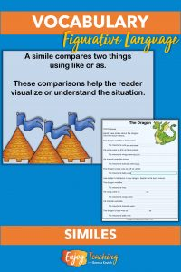 Kids learn about similes with a slideshow and worksheets.