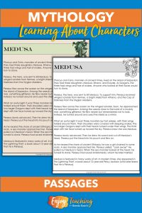 These one-page passages teach elementary school kids about characters from Greek mythology.