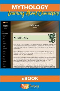 This eBook teaches elementary school students about characters from Greek mythology.