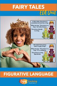 """Third and fourth grade kids learn about similes and metaphors with fairy tale themed slideshows. After practicing, they identify figurative language in """"The Frog Prince."""""""