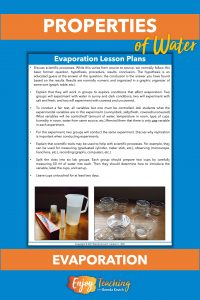 In this evaporation lab, kids conduct a fair test and learn about the scientific method.