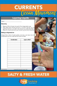 In this activity, kids explore how salinity affects density and allows them to actually layer liquids.