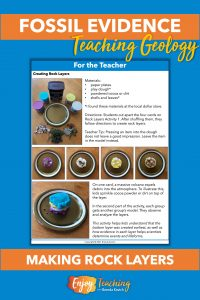 These directions show how kids can create fossil layers with play dough and a few other materials.