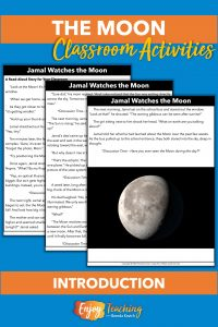 Kids read a story to learn about the Moon.