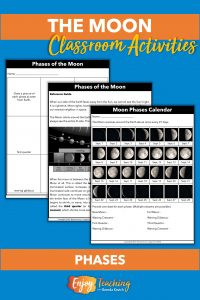 Kids learn about and identify phases of the Moon.
