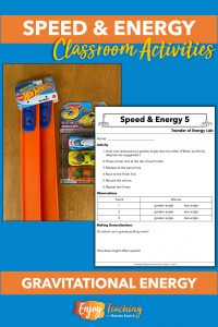 At the fifth speed and energy station, kids explore gravity with Hot Wheels track and cars.