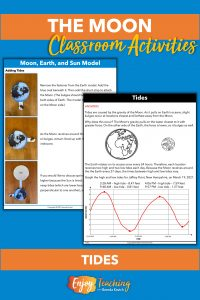 Kids add the hydrosphere to their models and graph tides on a worksheet.
