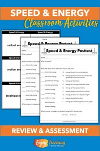 Kids use task cards to study and take a test.